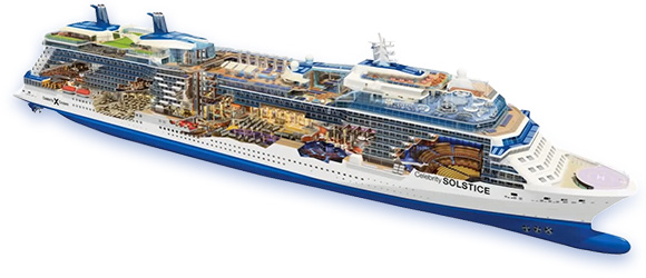 Celebrity Solstice Cruise Ship Cutaway
