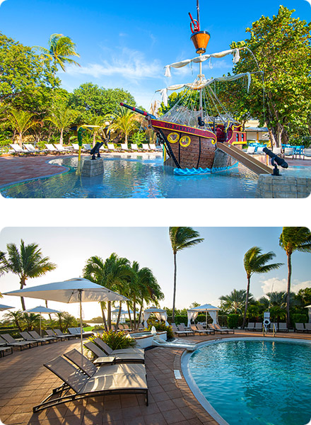 Hawks Cay Island Resort Pirate and Tranquility Pools