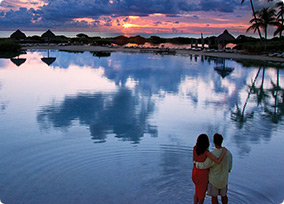 Hawks Cay Island Resort Lagoon at Sunset