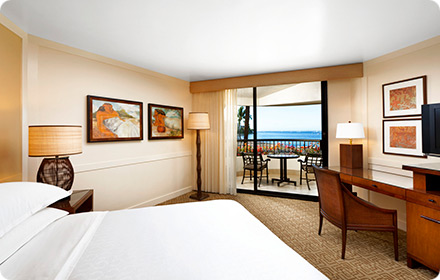 Sheraton Maui Oceanfront Guestroom