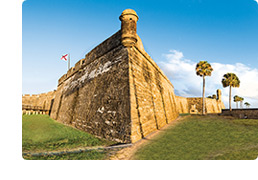 Castillo at Sunrise in Historic St. Augustine