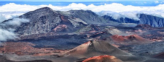 The Haleakala National Park in Maui