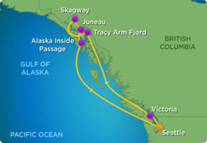 Itinerary for the upcoming Alaskan CME cruise