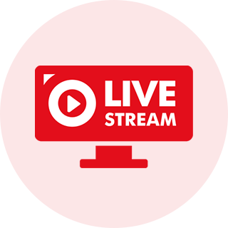 LIVE Streaming Webcast Icon